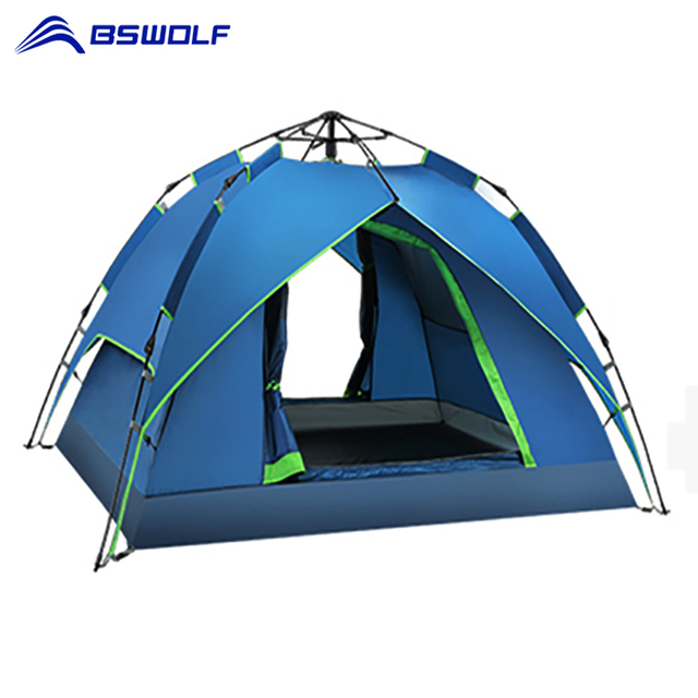 Outdoor Camping Tent 2 Persons Waterproof  Automatic Tent Two Function Waterproof Sun Shelter Handbag Travel Tent