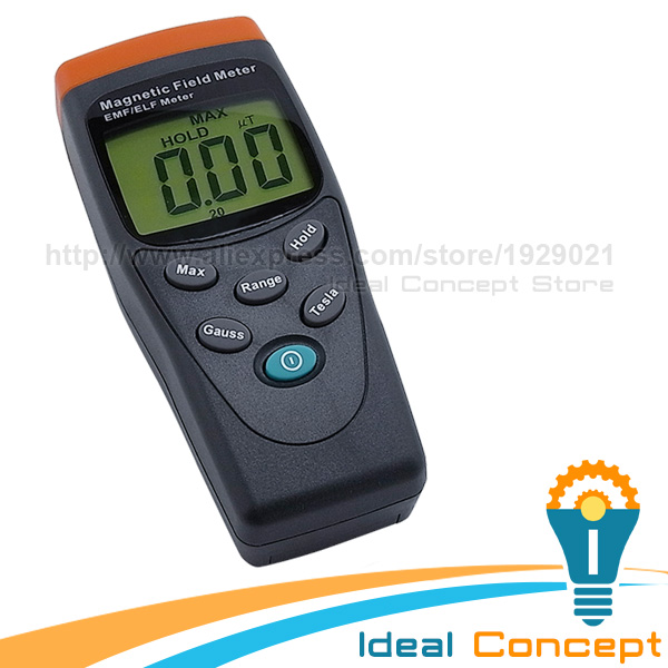 Gaussmeter EMF ELF Tester Single Axis Electromagnetic Field mG Detector Portable 30-300Hz Range Taiwan Made