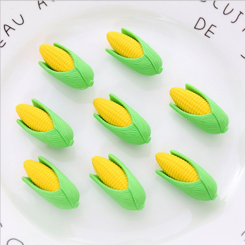 Купить с кэшбэком 2Pcs/Lot Cartoon corn modeling eraser Eraser Rubber Stationery  Shaped Creative kawaii School Supplies learning office supplies