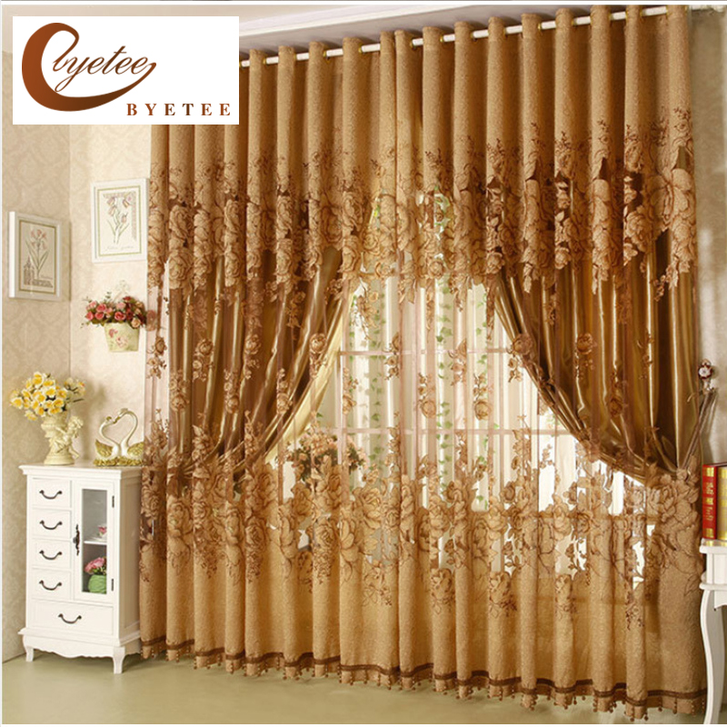 Byetee High Quality Sale Living Room Tulle Window Curtains Kitchen Window Curtains Door