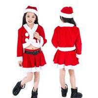 Muqgew熱い販売クリスマス幼児ベビー女の子の服クリスマスコスプレ長袖服トップス+スカート+キャップ衣装衣装子供