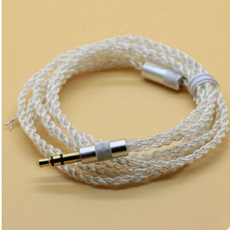 100 pcs Earphone Cable Copper6N Wire Headphone Audio Core Unit UE silver wire For diy Headphones Headsets