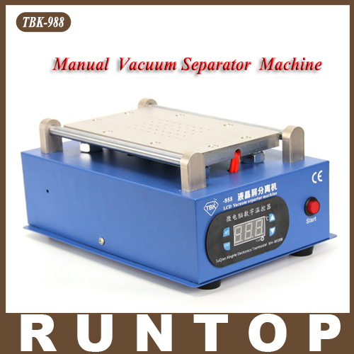 ФОТО High Quality TBK-988  Built-in Pump Vacuum Metal Body Glass LCD Screen Manual Separator Machine for phone