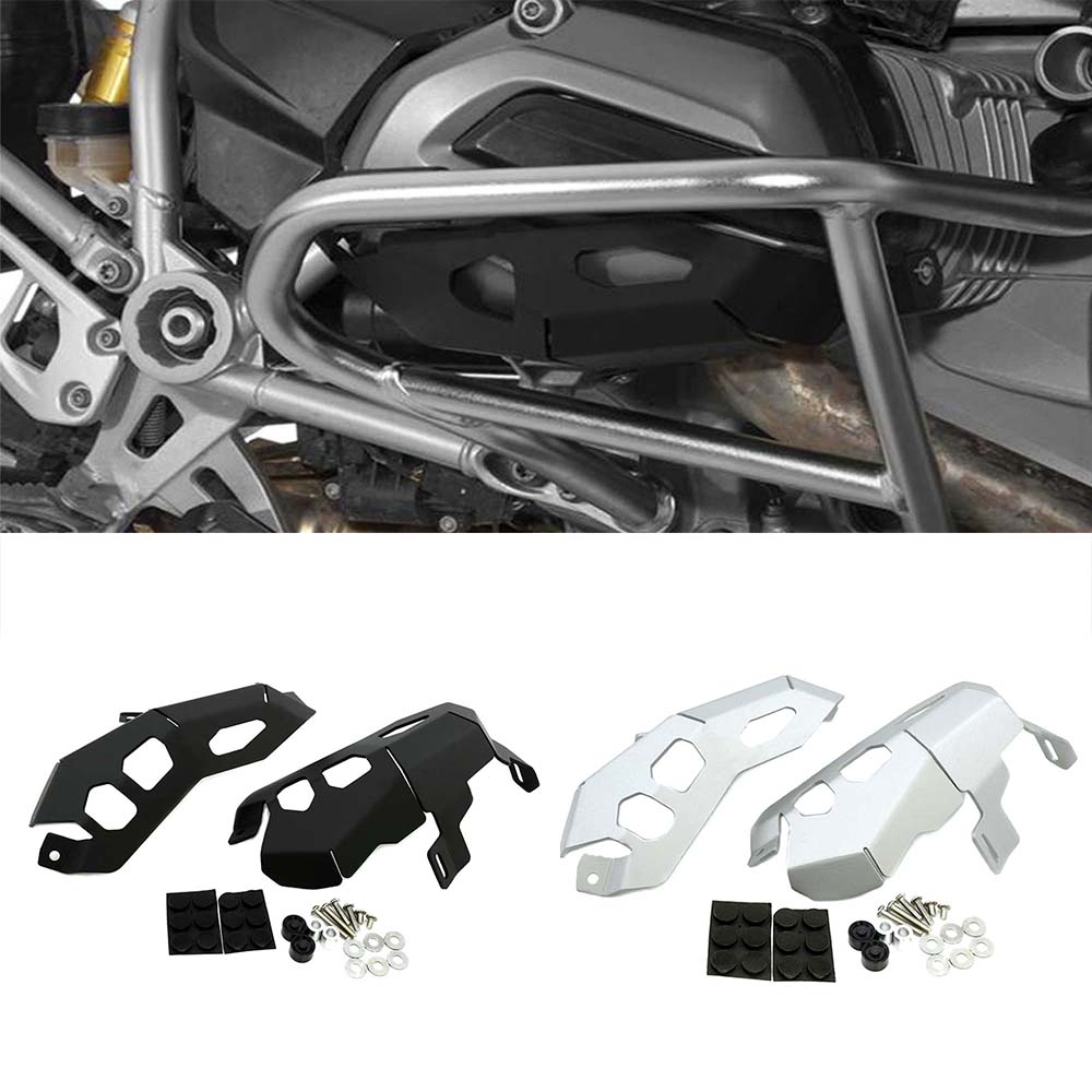 1set Accessories Cylinder Head Guards Protector Cover for BMW R1200GS R 1200 GS Adventure 2013-2016 Motorcycle Parts areyourshop motorcycle cylinder guards upper crash bar trim plate for bmw r1200gs adventure lc 2013 2017 aluminum motor cover