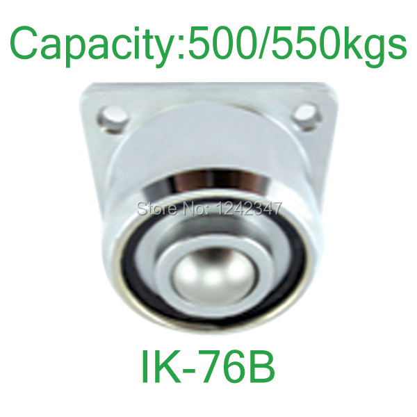 550kg Heavy loading solid steel machined ball transfer unit,flanged mount ball down facing IK-51B roller ball caster