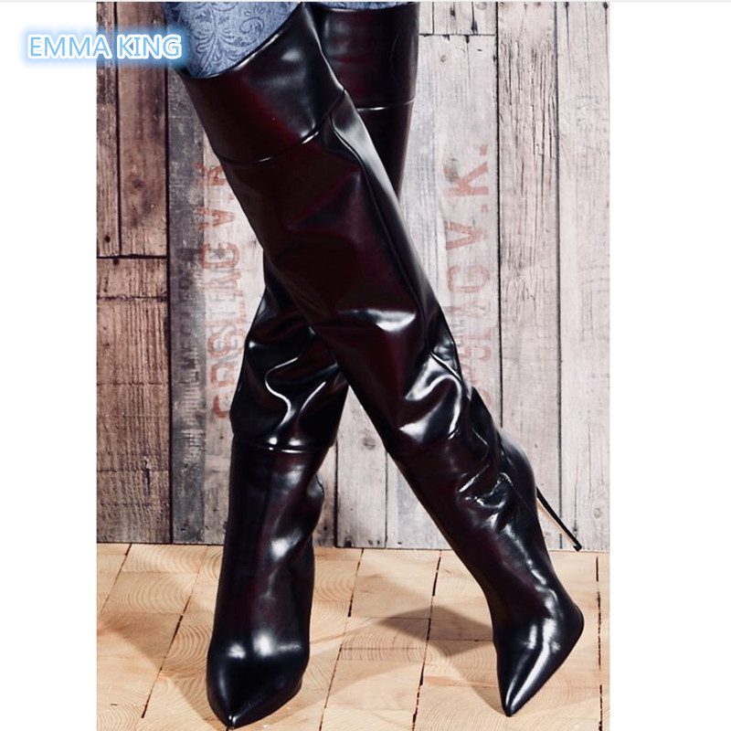 3e0bc2764e2 Sorbern Brown Matte Over The Knee Boots For Women Custom Long Wide ...