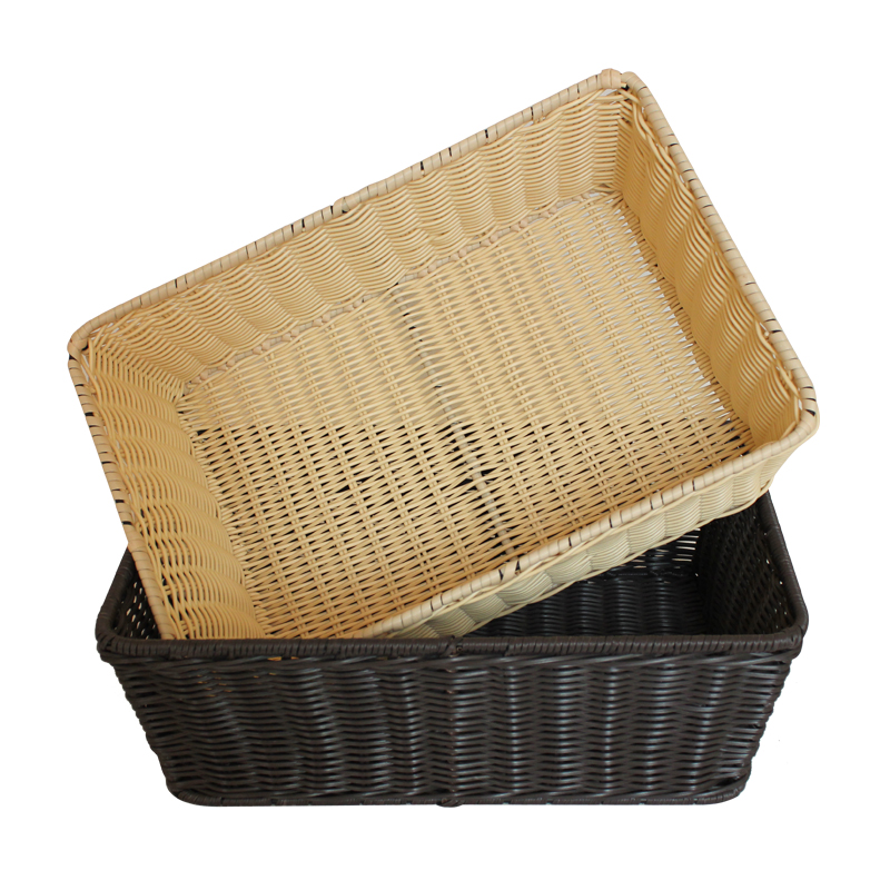 Zakka style storage basket creative multifunctinal picnic basket home orgainzer kitchen fruit basket