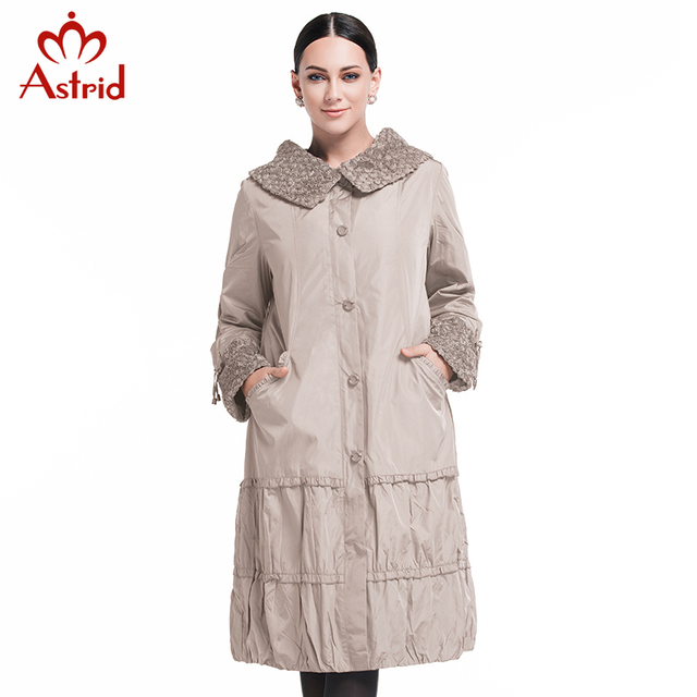 Astrid 2015 New Spring Fashion Casual Women's Trench Coat Long Outerwear Purple Clothes For Lady Good Quality AS-8162