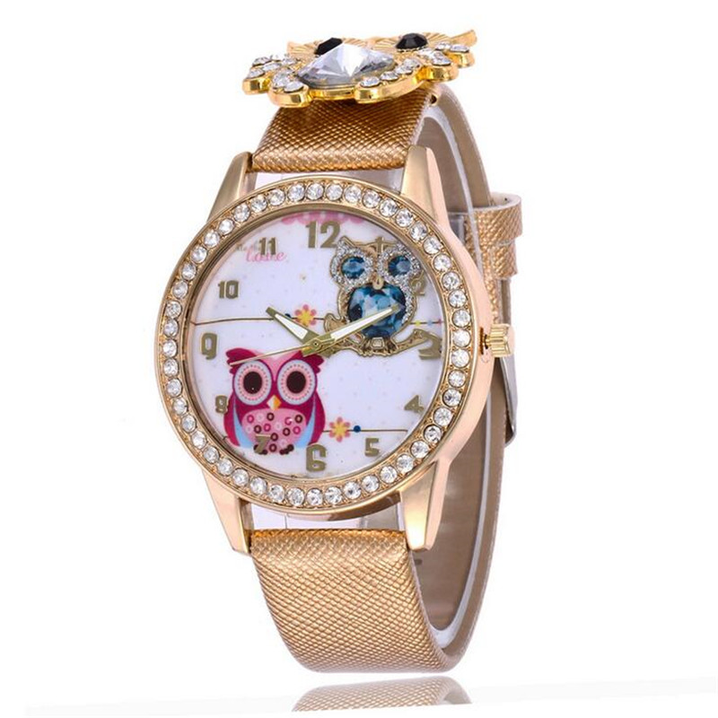 New Women's Watch Classic Owl Pattern Strap Owl Wrap Bracelet Watch 5