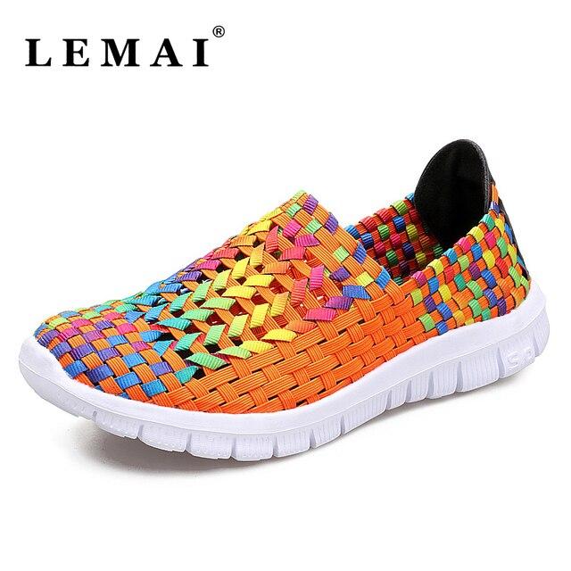 Chaussures femmes chaussures tissés à la main chaussures de sport maman respirant et chaussures de loisirs Z5vAK