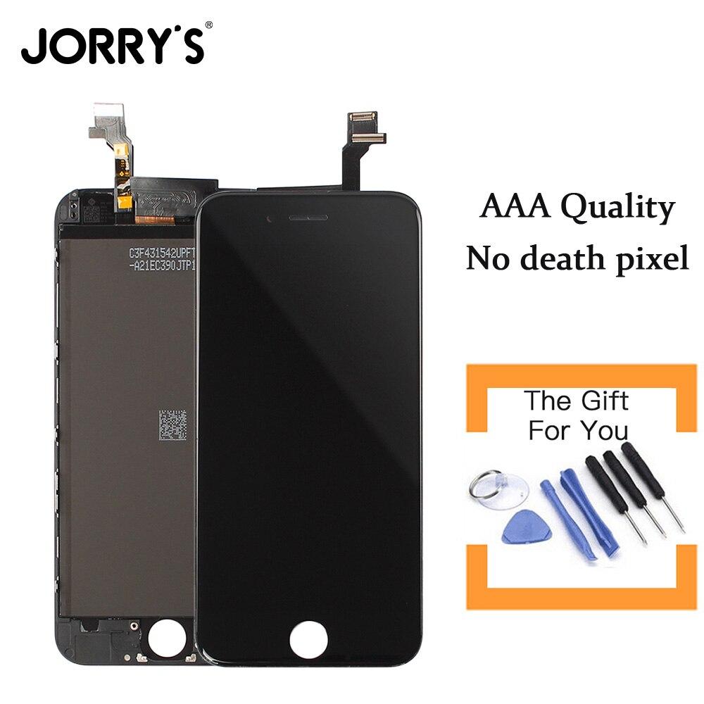 Calidad aaa para el iphone 6 teléfono móvil lcd de pantalla táctil con herramien