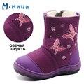 MMNUN Russa Famosa Marca Botas de Inverno para Meninas Feitas de Sentiu Sapatos Crianças Botas de Inverno Quente Botas de Neve Bebê da pele de carneiro sapatos