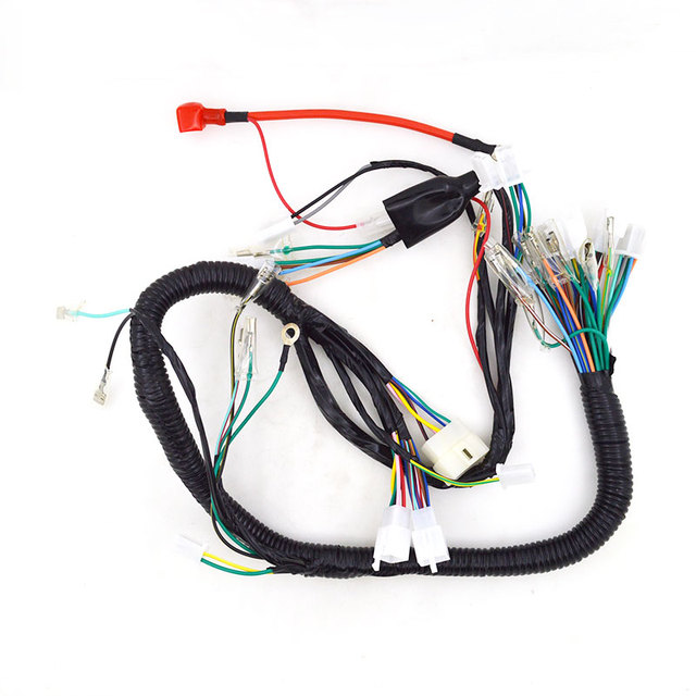 2088 motorcycle whole complete harness electrical wiring cable sets rh aliexpress com Triumph Motorcycle Wiring Diagram Motorcycle Wiring Kit
