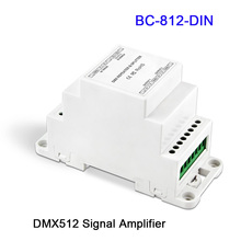 BC-812-DIN/BC-812-DIN-RJ45 DC12-24V DIN Rail DMX512 Signal Amplifier One input channel,two output channels led controller