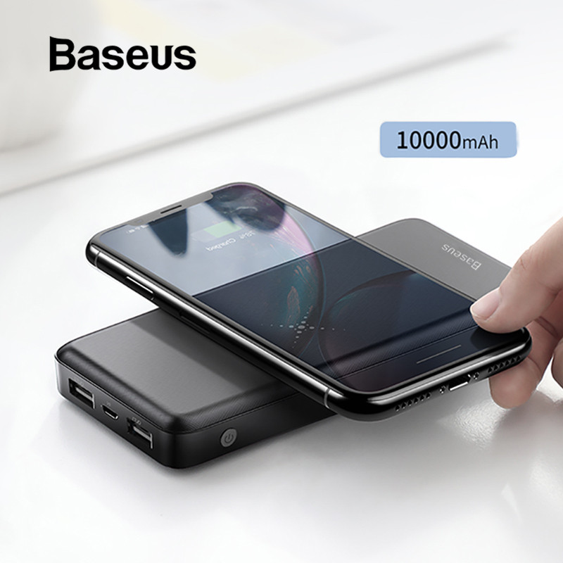 Baseus 10000mah Power Bank Wireless Charger Fast Charging for iPhone Samsung Xiaomi Huawei Dual USB Charge External Battery Pack-in Power Bank from Cellphones & Telecommunications