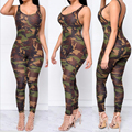 Jumpsuit Women Casual New Style Skinny Casual Print Army Green Jumpsuit Combinaison Femme Sexy Bodysuit