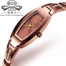 Luxurious Ladies Quartz Watch Trend Tungsten Band Women Costume Watch Informal Wristwatch Clock Gold Relogio Feminino With Reward Field