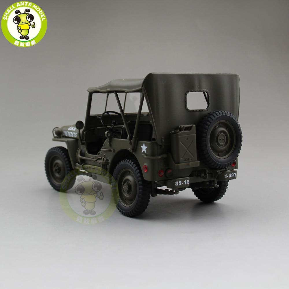 1/18 1941 JEEP يليز MB الجيش الأمريكي قوالب طراز السيارة اللعب Welly الجيش الأخضر-في سيارات لعبة ومجسمات معدنية من الألعاب والهوايات على  مجموعة 3