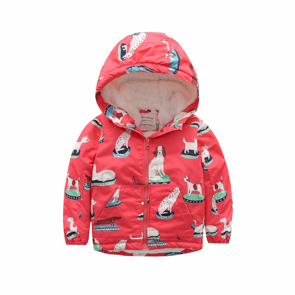 M84 Fashion Cartoon Printing Winter Cotton Chirden Thicken Padded Lining Jacket Hoodies Keep Warm Boys Girls Coat Tops Outwear m43 spring autumn winter child thicken padded lining jacket hoodies boy