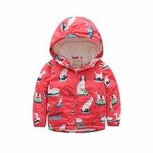 M84 Fashion Cartoon Printing Winter Cotton Chirden Thicken Padded Lining Jacket Hoodies Keep Warm Boys Girls Coat Tops Outwear