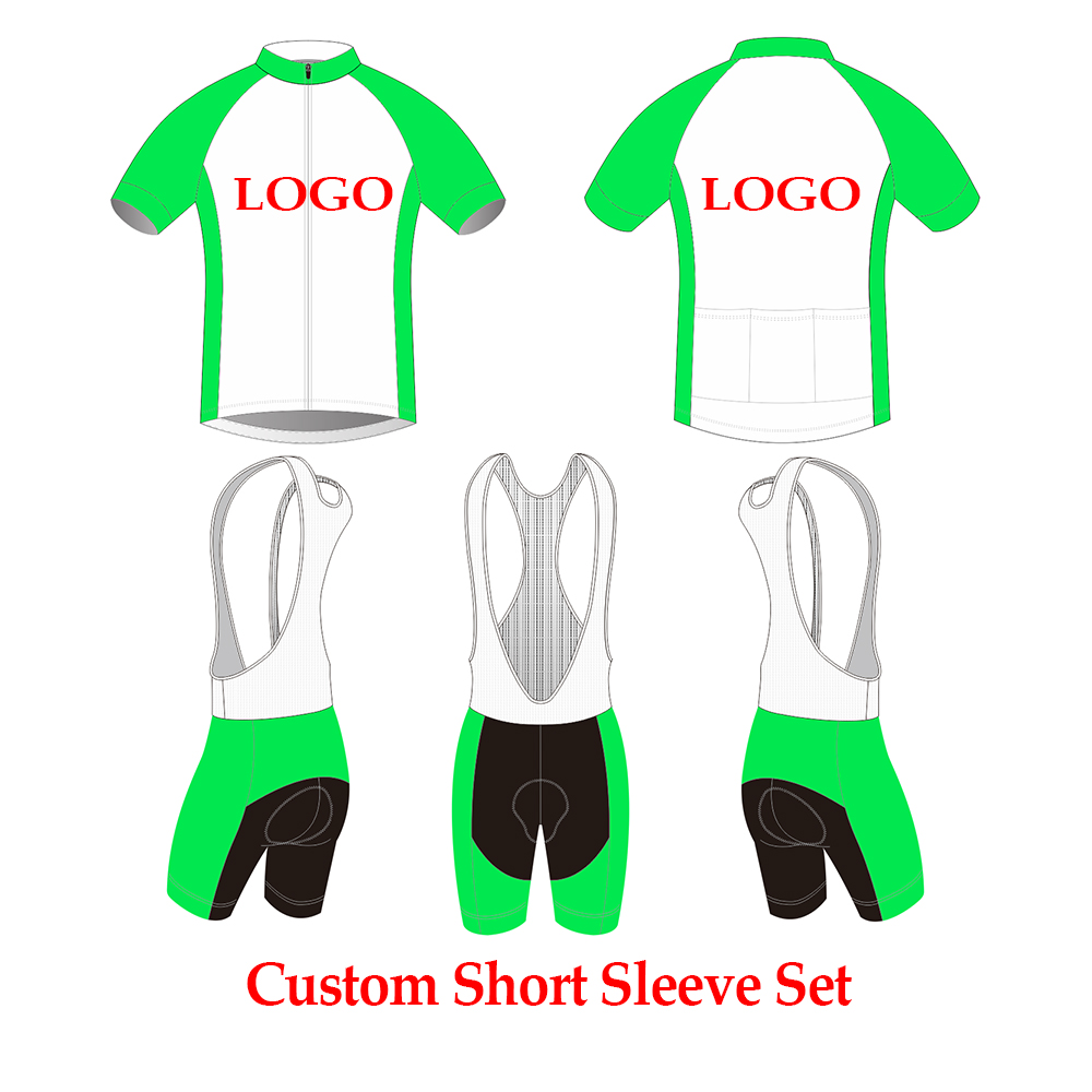 Custom Cycling Jersey Short Sleeve Bike Clothes Any Design Sizes Logos Can Be Choose Personalized Cycling