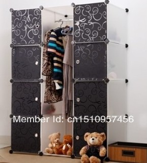 Foldable Diy Wardrobe Hanging Clothes Cabinet Kids Toy Storage Closet Adaptable