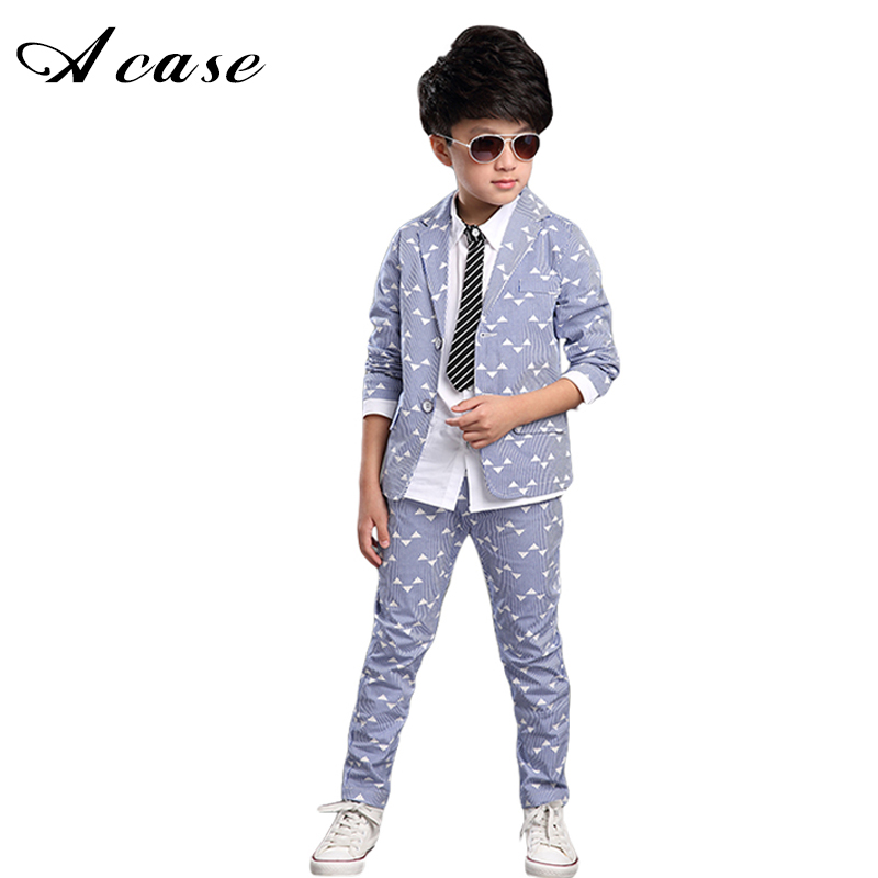 Boys Suits Formal 2018 Spring Autumn New Trend Children Kids Wedding Party Clothes 2 Pieces Sets Child Fashion Gentleman Outfits 2018 spring autumn children performance clothing sets kids suits boys gentleman wedding formal suit vest shirt pant a23