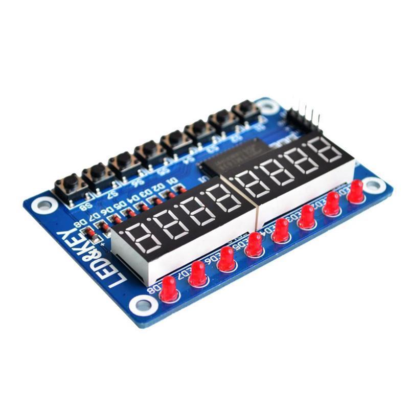 New 8-Bit Digital LED Tube 8-Bit TM1638 8 Key Display Module For AVR Arduino