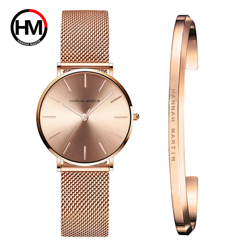 Luxury Women Bangle-Set Watch Bracelet Stainless-Steel Female Valentine's-Gift High-Quality title=