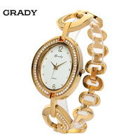 Grady geneva watch women all stainless steel case with waterproof free shipping