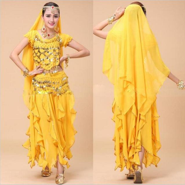 d9804257011a Egyptian Belly Dance Costume Indian Dresses India Belly-dancing-clothes  Adult Stage Performance Bollywood Dance Costumes