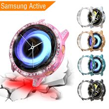 New Diamonds TPU Cases for Samsung Galaxy Watch Active Cover Screen Protector Protective Case SM-R500 PC