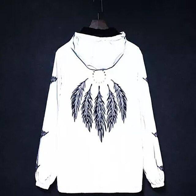 6047cfe163 3m Reflective Jacket Men Hip Hop Anorak Streetwear Mens Jackets Japan Street  Style Windbreaker Rave Clothes
