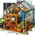 3D diy Крошечный Деревянный Дом Творческий Моделирование Нескольких Миров Детей Игрушки