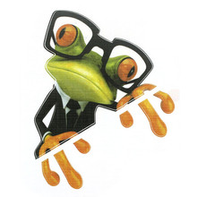 High Quality  3D Glasses Frog Funny Car Stickers Truck Window Decal Graphics Sticker