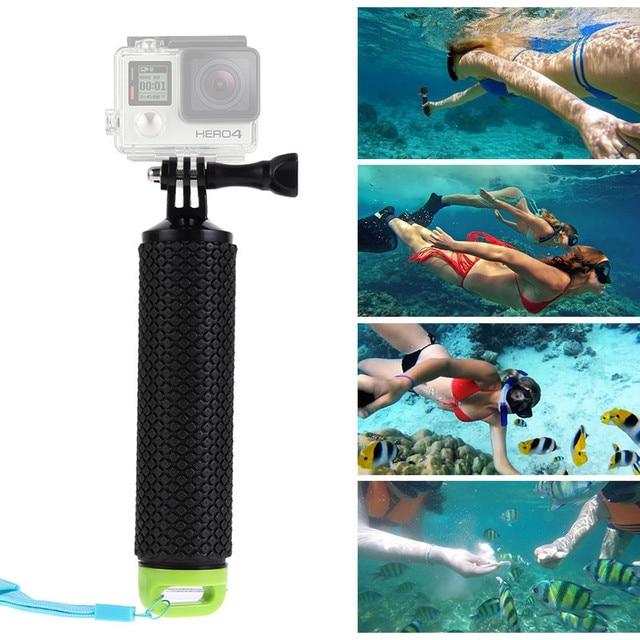 Плавающие ручка Ручной Придерживайтесь рукоятка Штатив для Xiaomi Yi Action Камера Gopro Hero 4 3 + 3 2 Камера монопод Аксессуары