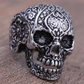 Vintage anel Real New Arrival Women Men's Personality Party Rings Rings Anillos Jewelry Vampire Skull Ring Punk Fashion