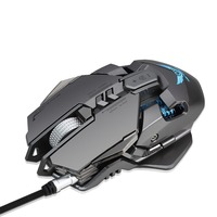 2018 NEW Mechanical Gaming Mouse Game Competitive Mice Adjustable 4000DPI 7 Programmable Buttons LED backlight for LOL overwatch Mice     -
