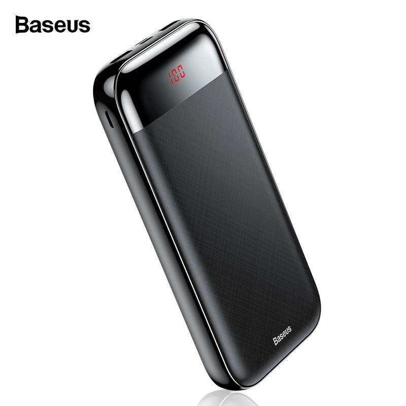Baseus 20000 mah Power Bank LCD Power Mobiles Ladegerät Mit 3 Ausgang Eingang Externe Batterie PD Schnelle Lade Für Mobile telefon