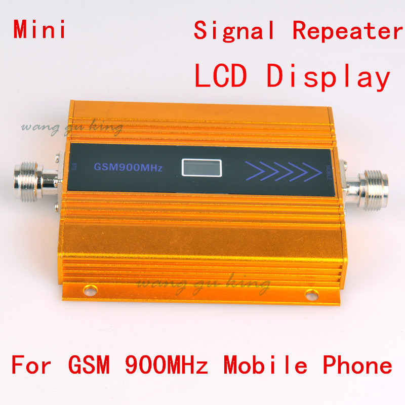 LCD Display !!! GSM Booster 2G Cell Phone GSM Signal Booster 900MHz Mobile Signal Repeater Cellular Amplifier Yellow Color