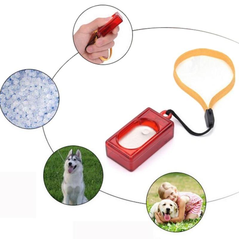1 Pc Nieuwe Hond Pet Klik Clicker Training Gehoorzaamheid Agility Training Hulp Wrist Strap Nieuw Dropshipping Crazy Prijs
