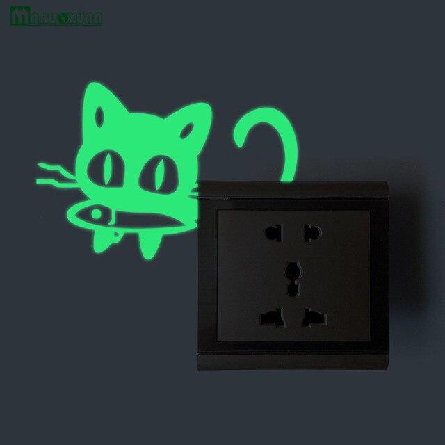 Nachtlampje Gesneden Kitten Eten Vis Switch Pasta Lichtgevende Pasta ...