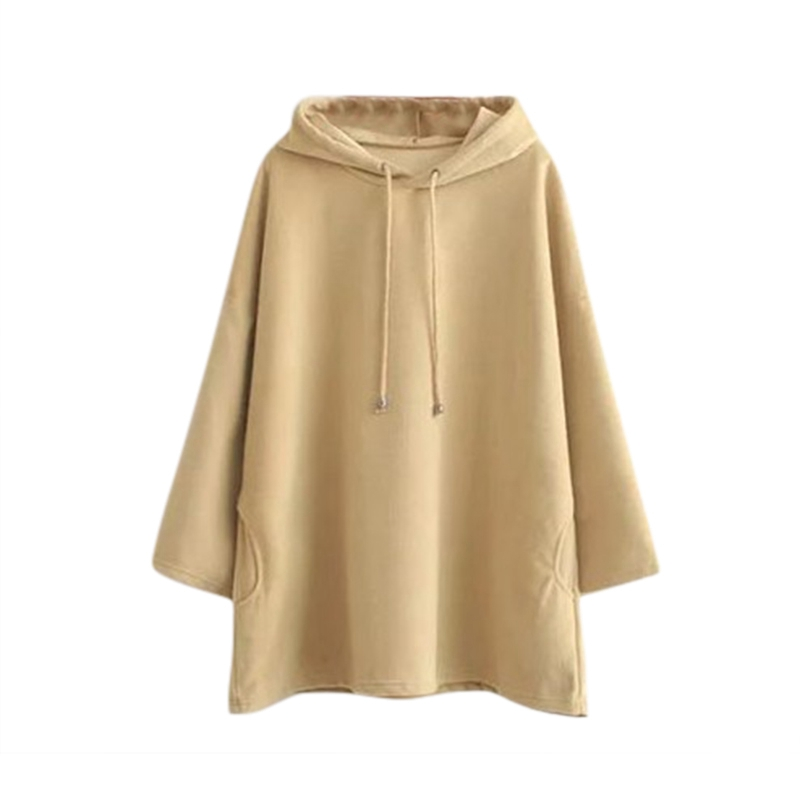 Autumn Fleece Hooded Headwear Sweatshirts Korean S