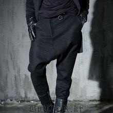 New 2017 Men's Clothing False two Haren pants pants China retro personality style cotton pants young radish costumes
