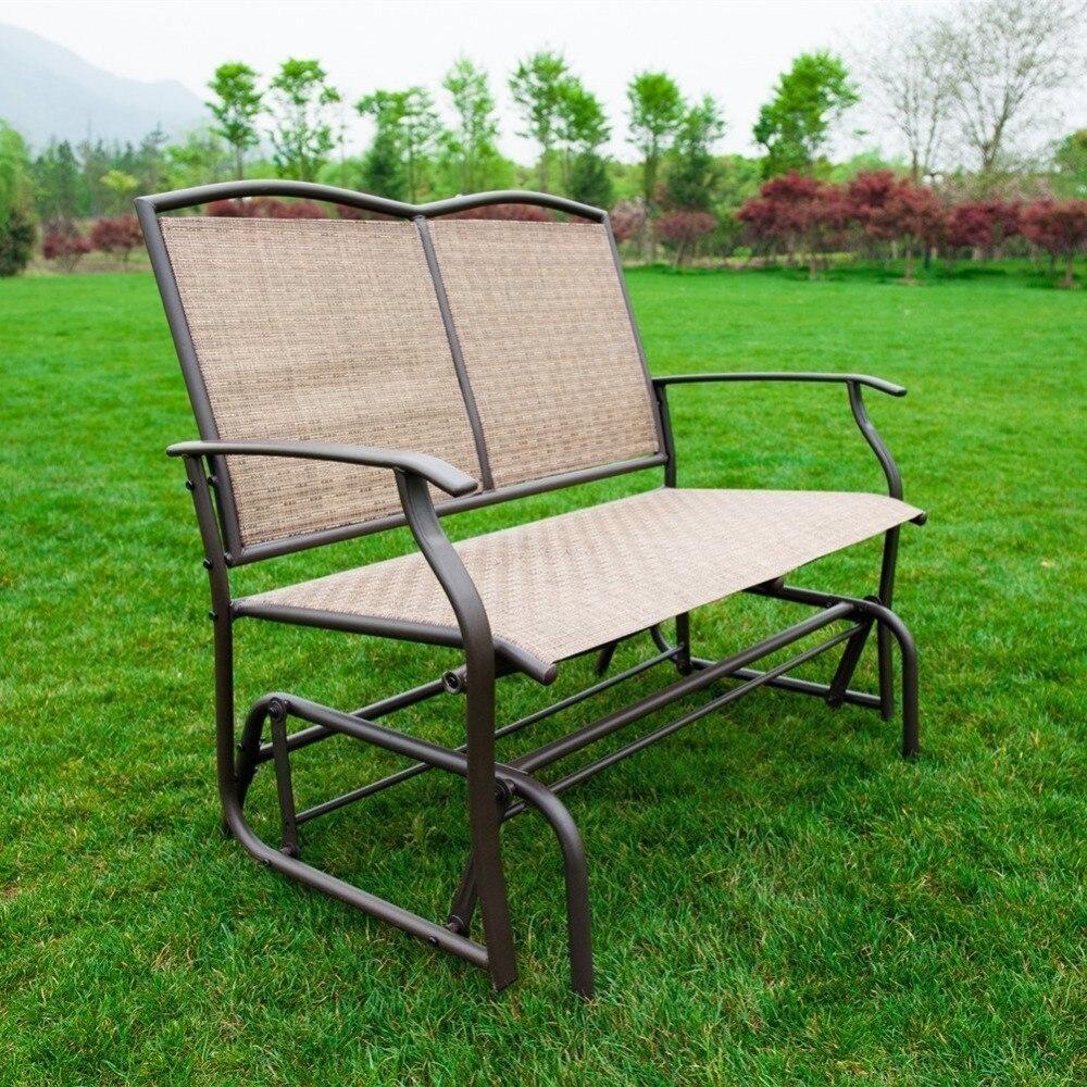 Amazing Naturefun Patio Swing Glider Bench Chair Garden Glider Spiritservingveterans Wood Chair Design Ideas Spiritservingveteransorg