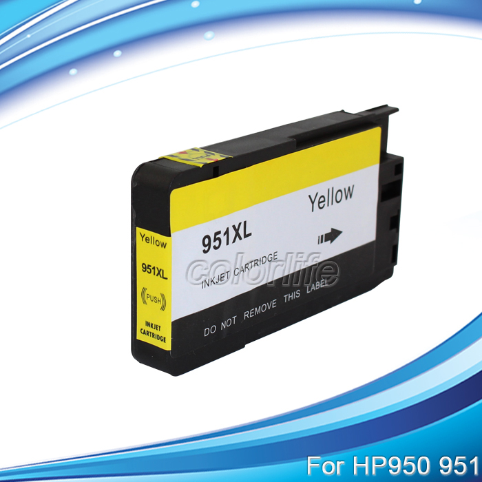 XIMO For HP951XL Y H951XL Yellow Ink Cartridge Replacement free shipping 4 pcs 1 lot