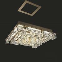 Luxury crystal chandelier modern gold living room lighting model room villa dining room lamp customizable chandelier
