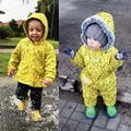 BBK 2016 ins Parkas banana coat Conjoined upset Ski clothes Warm jumpsuits male and female children warm cotton-padded jacket D*
