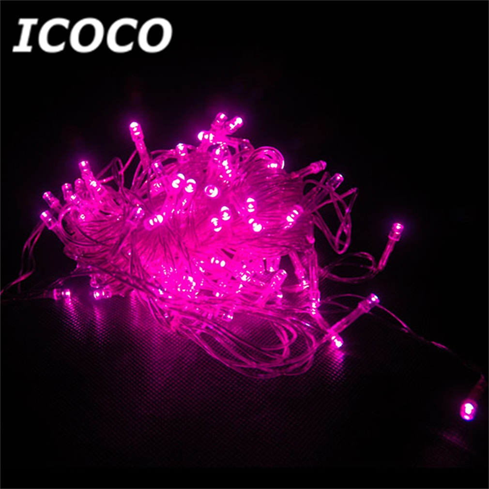 ICOCO 100 LEDs 12M Green Fairy String Light Outdoor Indoor Party Christmas Festival Garden Wedding Tree Decor Drop Shipping Sale