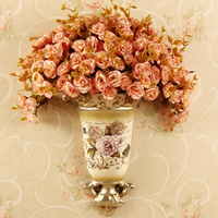 European vase basket wall mural pendant floral garden Home Furnishing wall decoration wall decoration